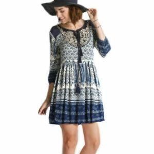 3/$30 Boho peasant dress
